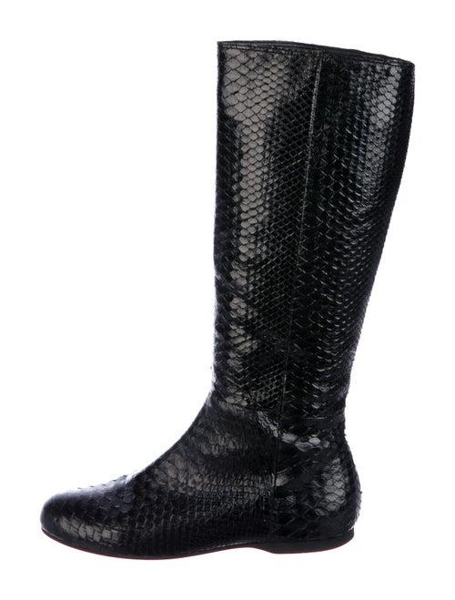 Miu Miu Snakeskin Boots Black