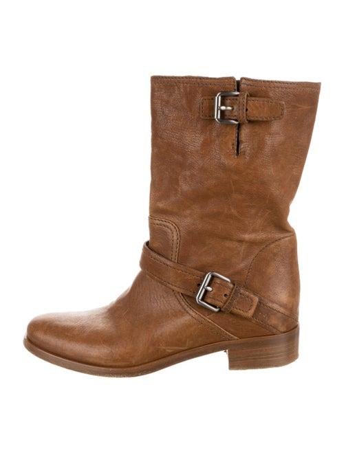 Miu Miu Moto Boots Brown