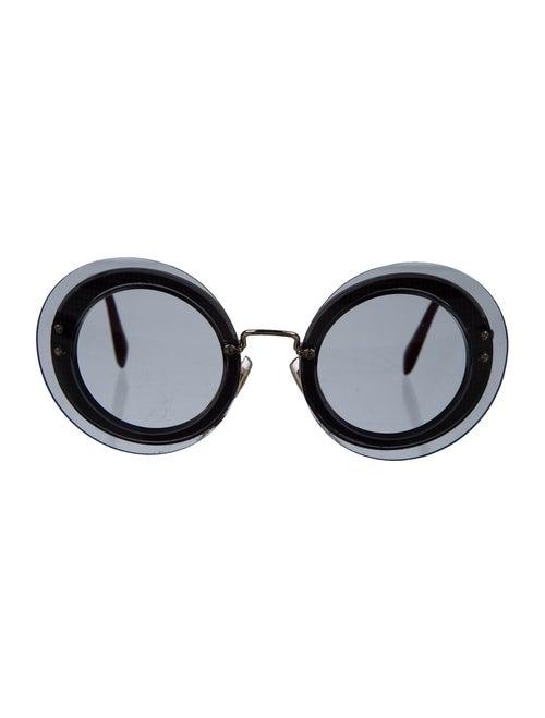 Miu Miu Rimless Round Sunglasses gold
