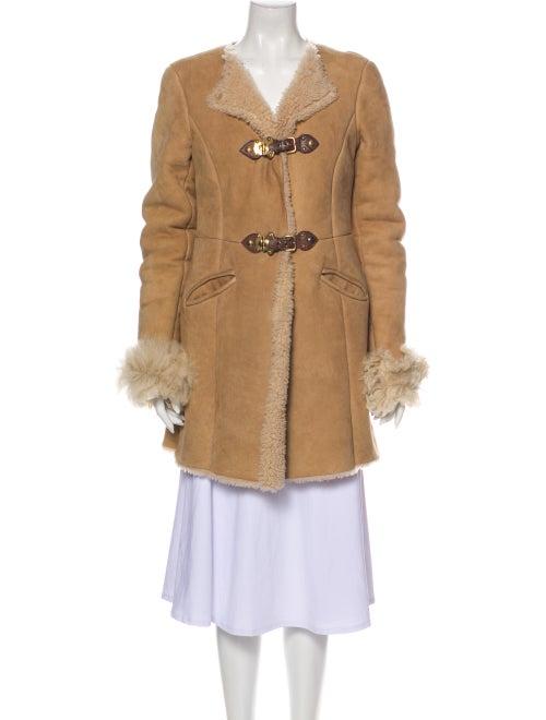 Miu Miu Faux Fur Coat Brown