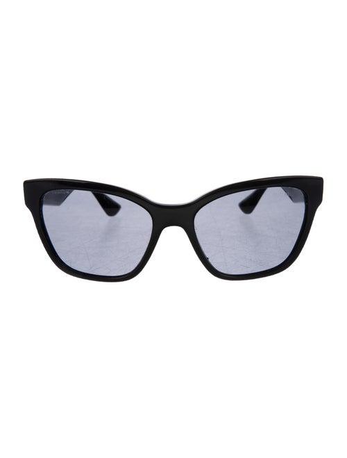 Miu Miu Embellished Cat-Eye Sunglasses Black
