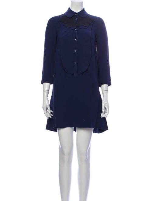 Miu Miu Mini Dress Blue