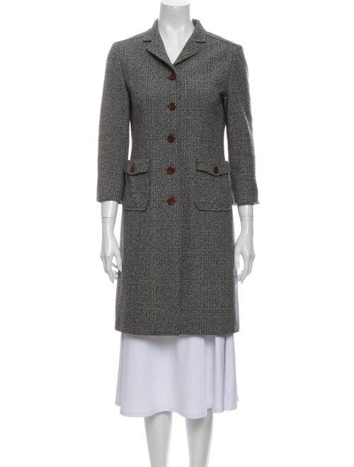 Miu Miu Virgin Wool Tweed Pattern Coat Wool