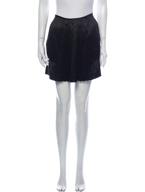 Miu Miu Silk Mini Skirt Black