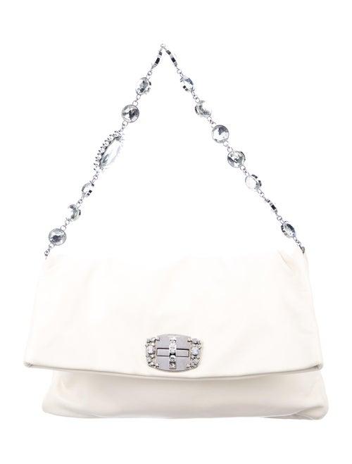 Miu Miu Iconic Crystal Flap Bag Silver