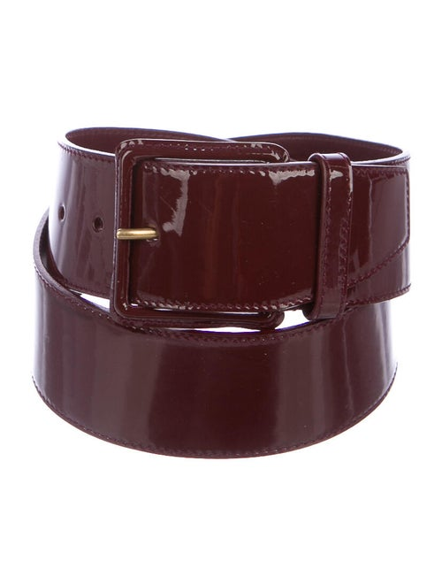 Miu Miu Patent Leather Belt gold