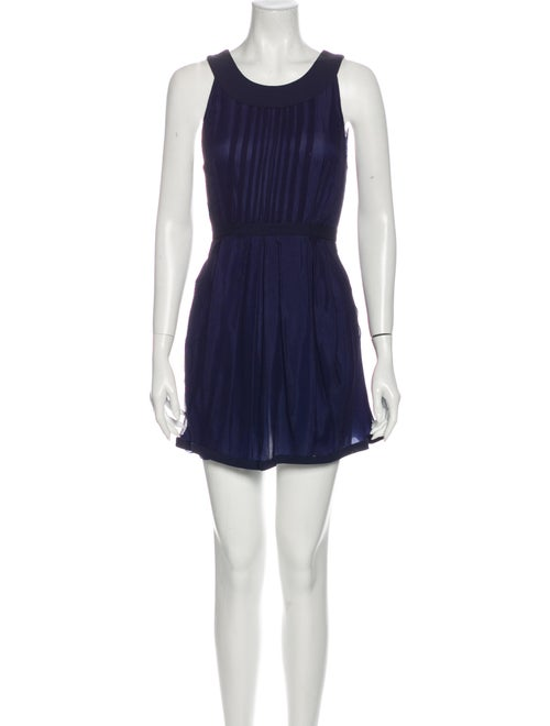 Miu Miu Silk Mini Dress Blue