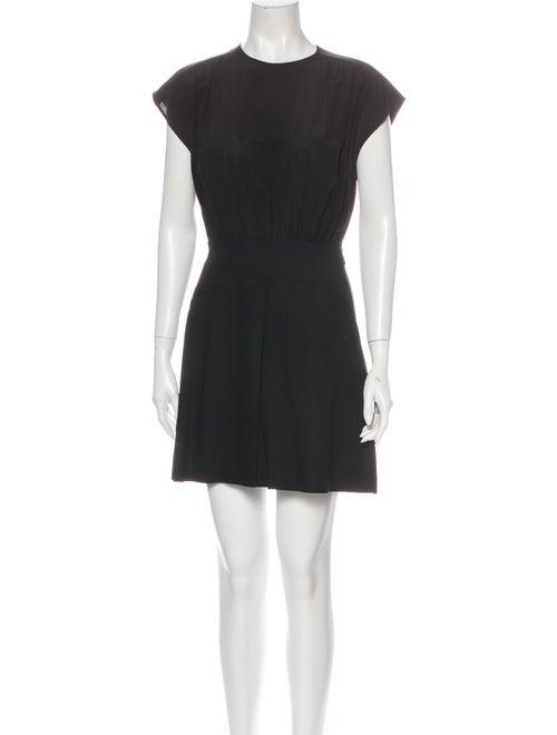 Miu Miu Crew Neck Mini Dress w/ Tags Black