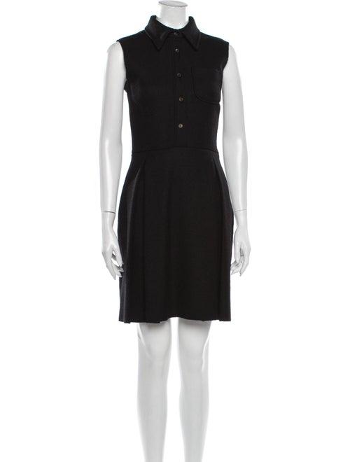 Miu Miu Virgin Wool Mini Dress Wool