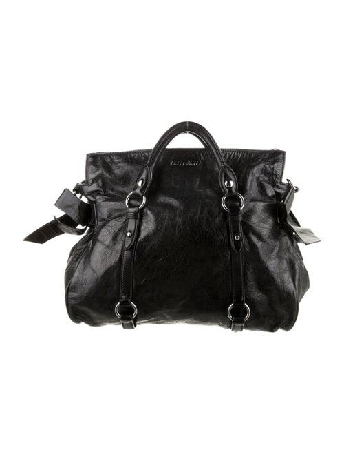 Miu Miu Vitello Bow Bag Black