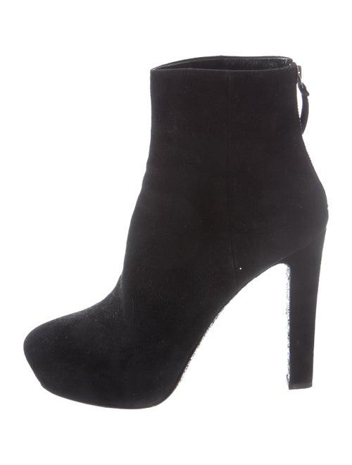 Miu Miu Suede Platform Ankle Boots Black