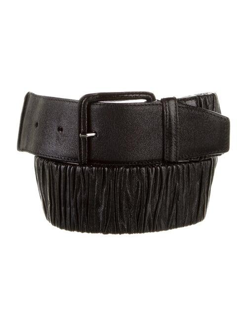 Miu Miu Patent Leather Belt Black