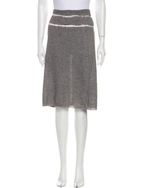 Miu Miu Tie-Dye Print Knee-Length Skirt Grey