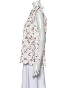 Miu Miu Printed Sleeveless Blouse w/ Tags