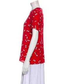 Miu Miu 2017 Silk T-Shirt