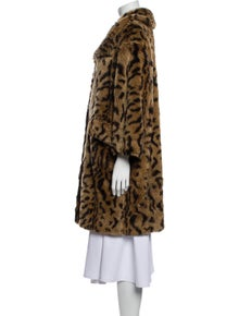 Miu Miu Animal Print Faux Fur Coat