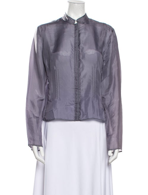 Miu Miu Vintage 1990's Button-Up Top Purple