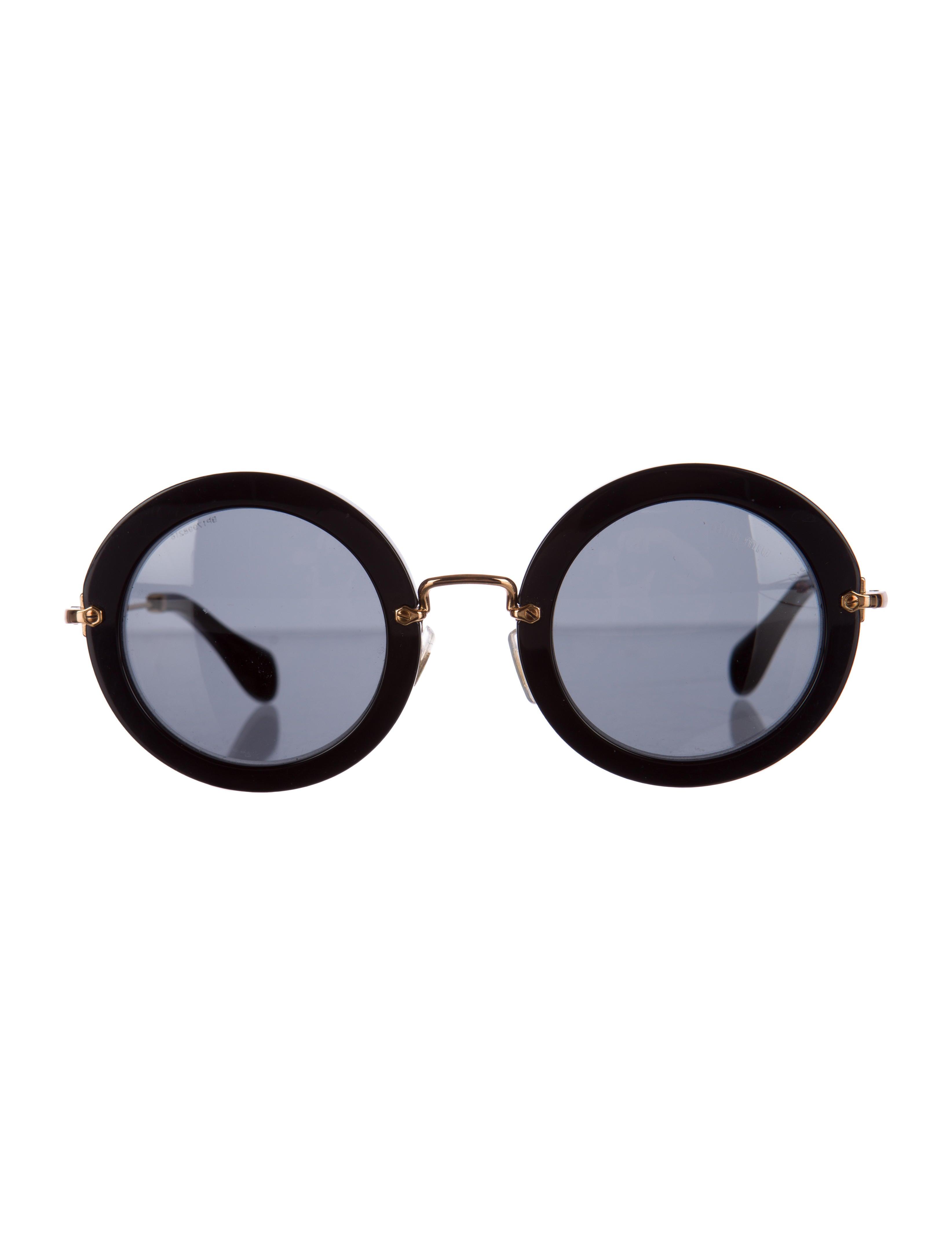 Miu Miu Sunglasses Round  miu miu sunglasses accessories miu28393 the realreal