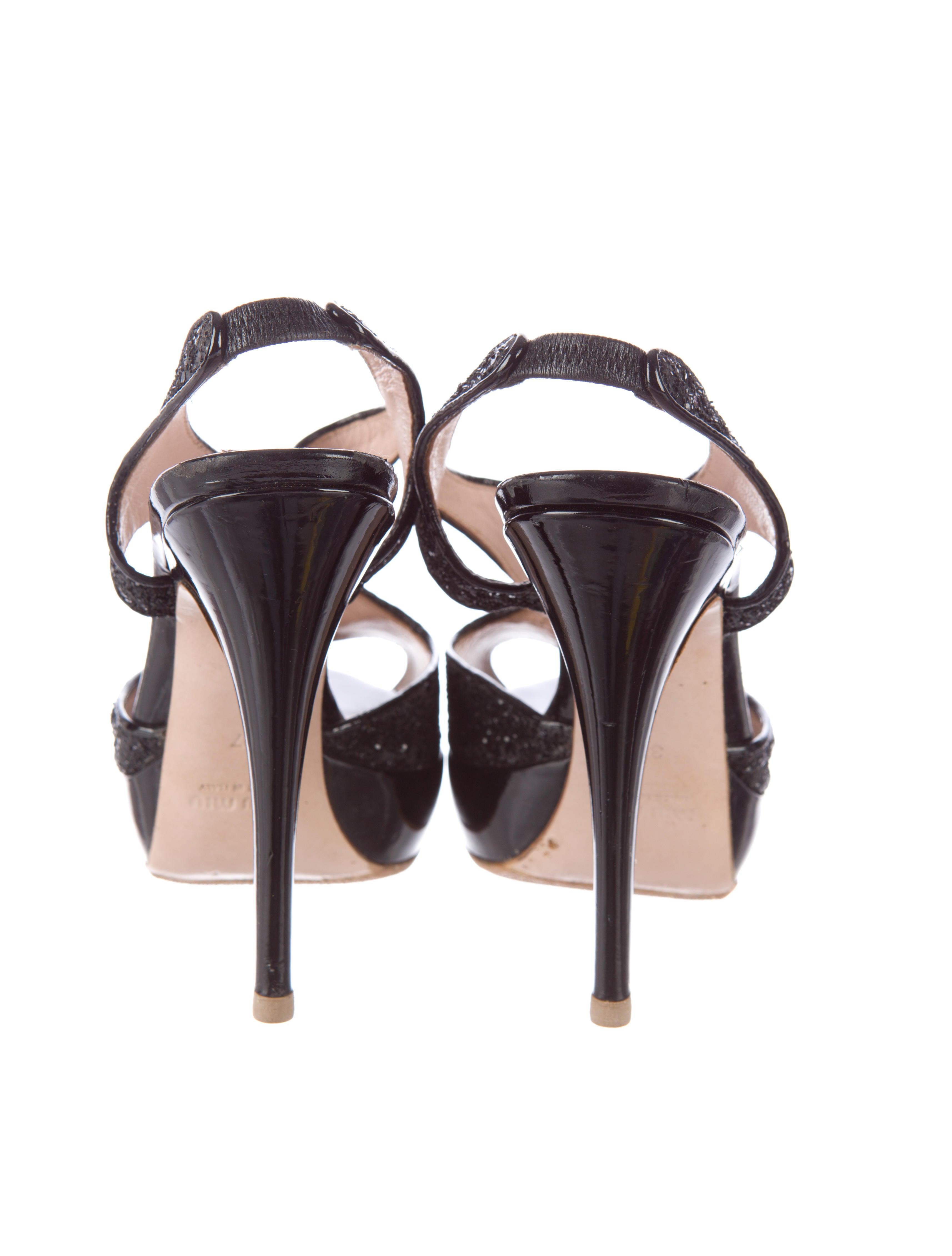 miu miu platform sandals shoes miu31658 the realreal