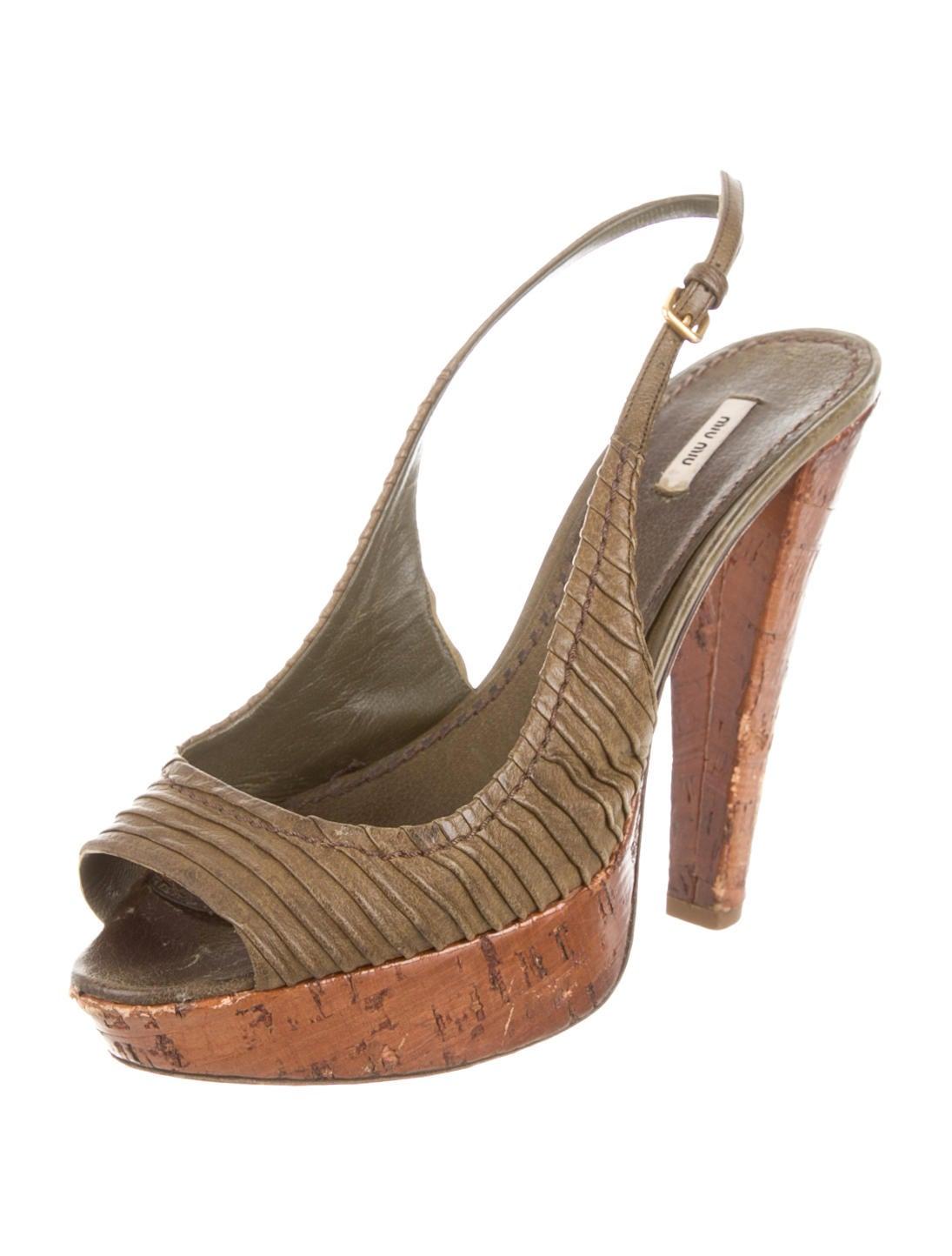 miu miu platform slingback pumps shoes miu31832 the