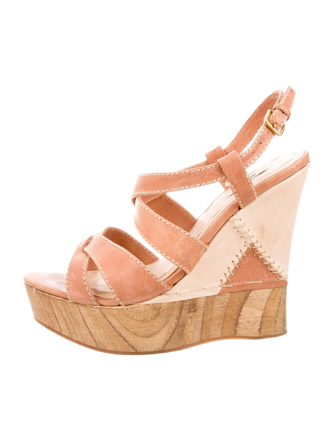 miu miu platform wedges shoes miu31892 the realreal