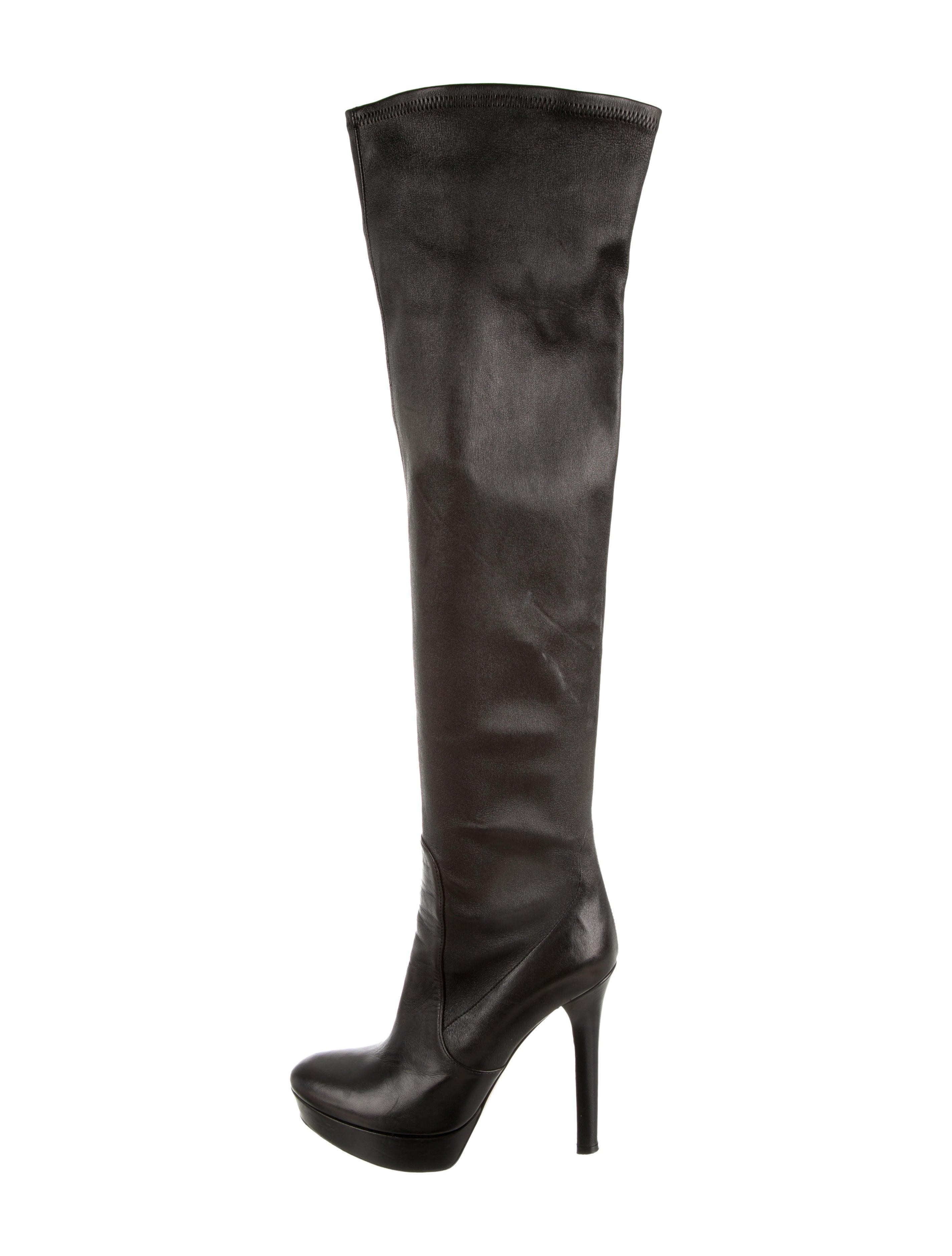 miu miu platform boots shoes miu32744 the realreal