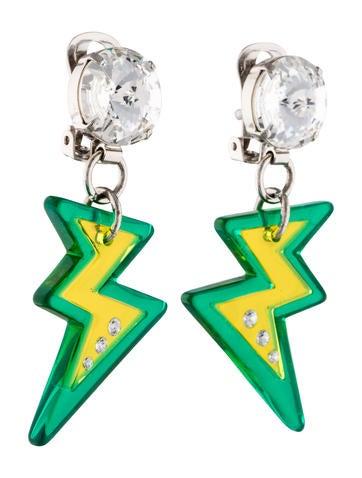 Lightening Bolt Drop Earrings