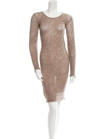 Miu Miu V-Neck Sweater Dress