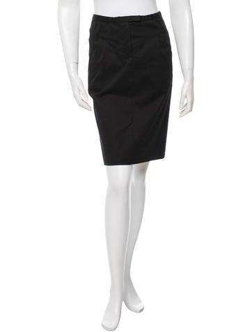 miu miu gathered waist pencil skirt clothing miu36787