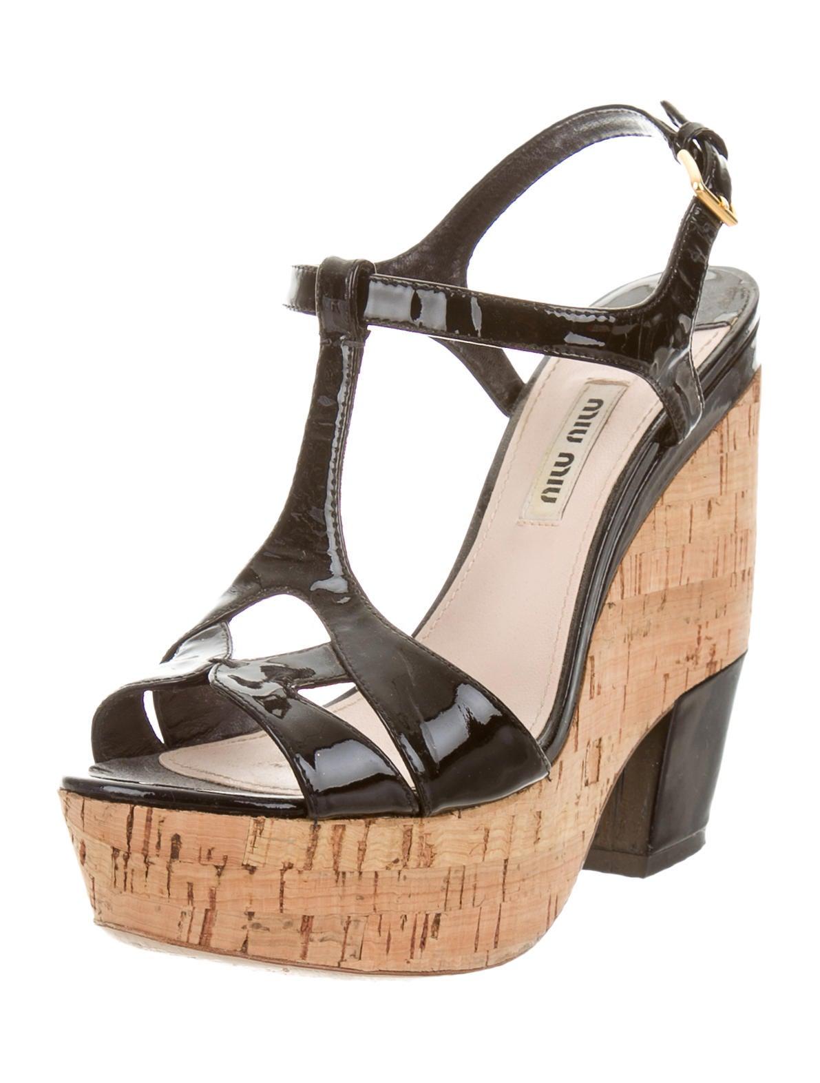 miu miu t platform wedges shoes miu37221 the