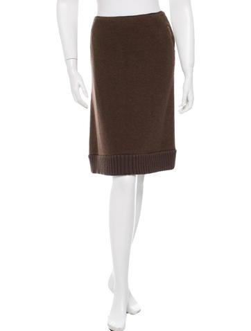 Miu Miu Knee-Length Wool Skirt None