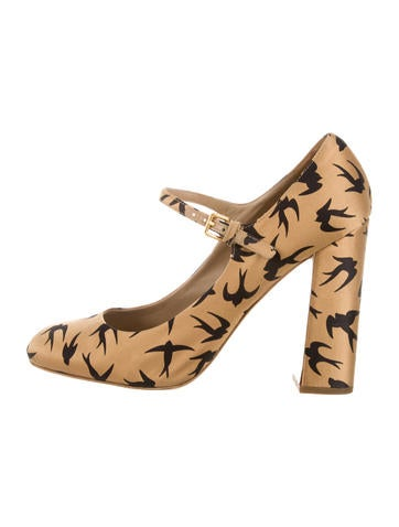 Printed Mary Jane Pumps