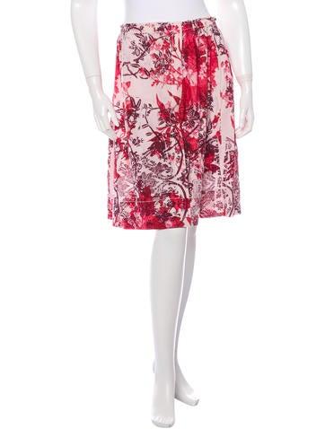 Miu Miu Knee-length Printed Skirt