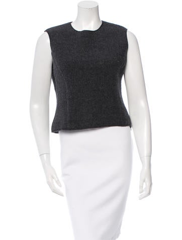 Miu Miu Sleeveless Wool Top None