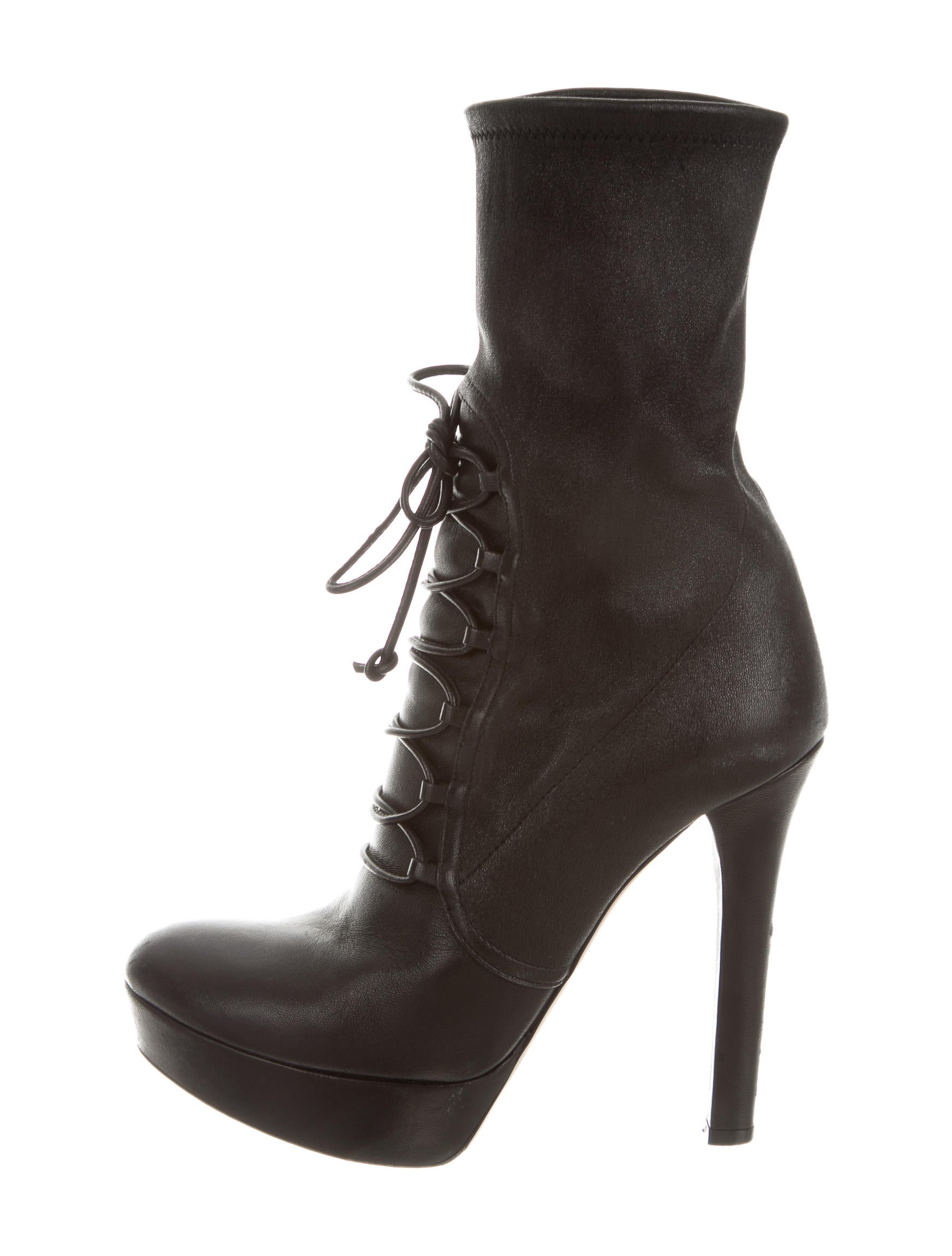 miu miu leather lace up ankle boots shoes miu39687