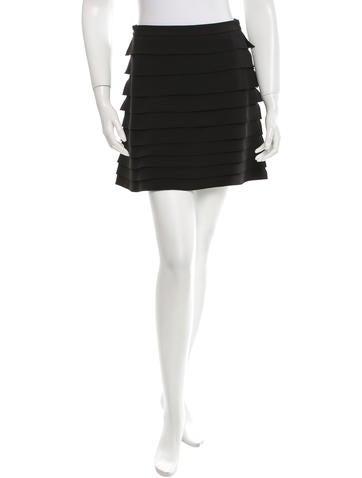 Miu Miu Mini Tiered Skirt None