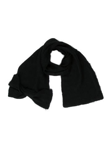 Miu Miu Bow Rib Knit Scarf None