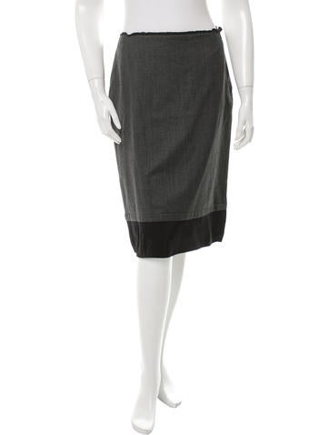 Miu Miu Knee-Length Wool Skirt