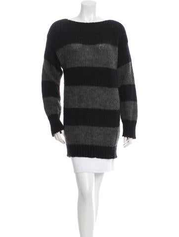 Miu Miu Striped Mohair Sweater None