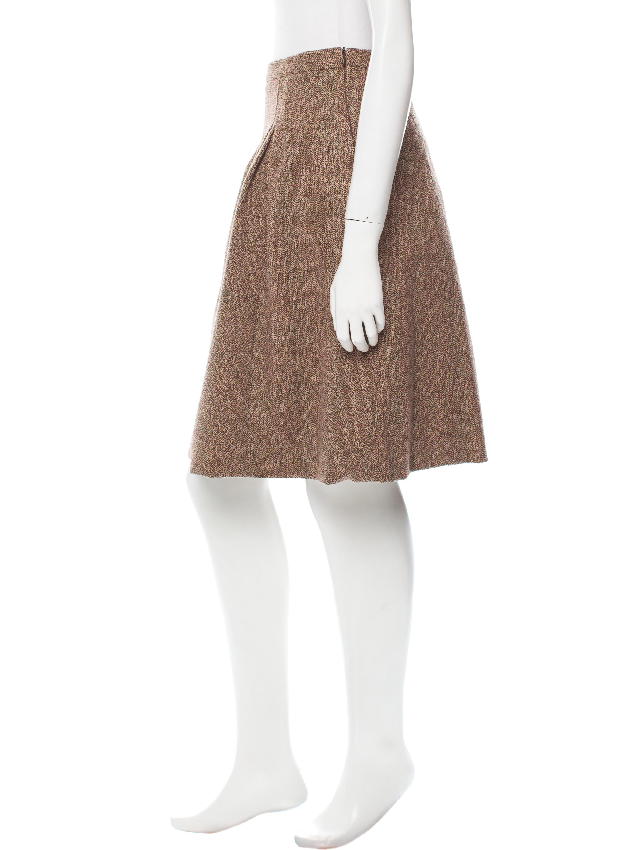 miu miu knee length wool skirt clothing miu40530 the