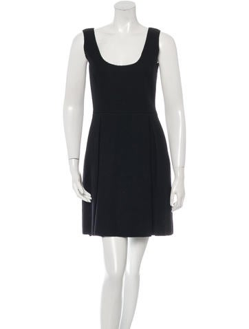 Miu Miu Virgin Wool Mini Dress None