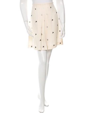 Miu Miu Floral Print Mini Skirt None