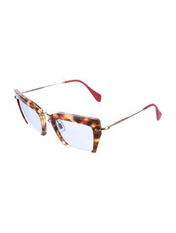 3b27a20e09e8 Miu Miu Tortoiseshell Raisor Sunglasses - Accessories - MIU41027 | The  RealReal