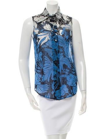 Miu Miu Floral Print Button-Up Top None