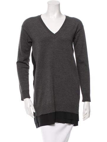 Miu Miu Wool V-Neck Sweater None