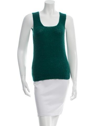 Miu Miu Wool-Blend Sleeveless Top None