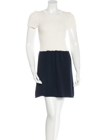 Miu Miu Colorblock A-Line Dress None