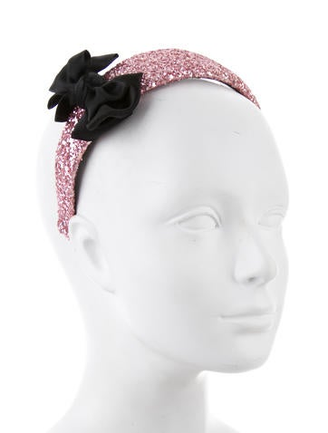 Glitter Bow-Accented Headband