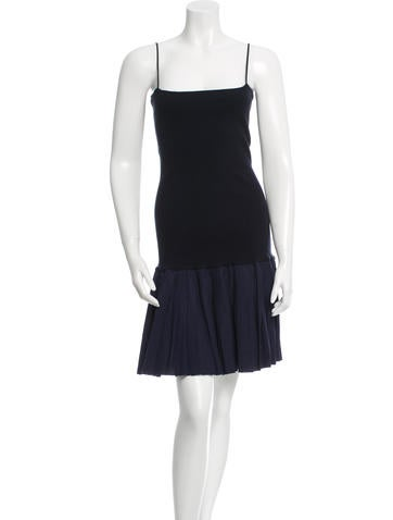 Miu Miu Flared Sleeveless Dress None