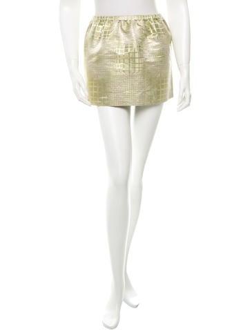 Miu Miu Metallic Mini Skirt None